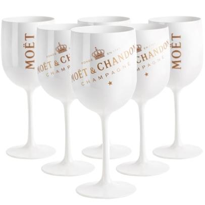 Moët & Chandon Ice champagne glazen set van 6