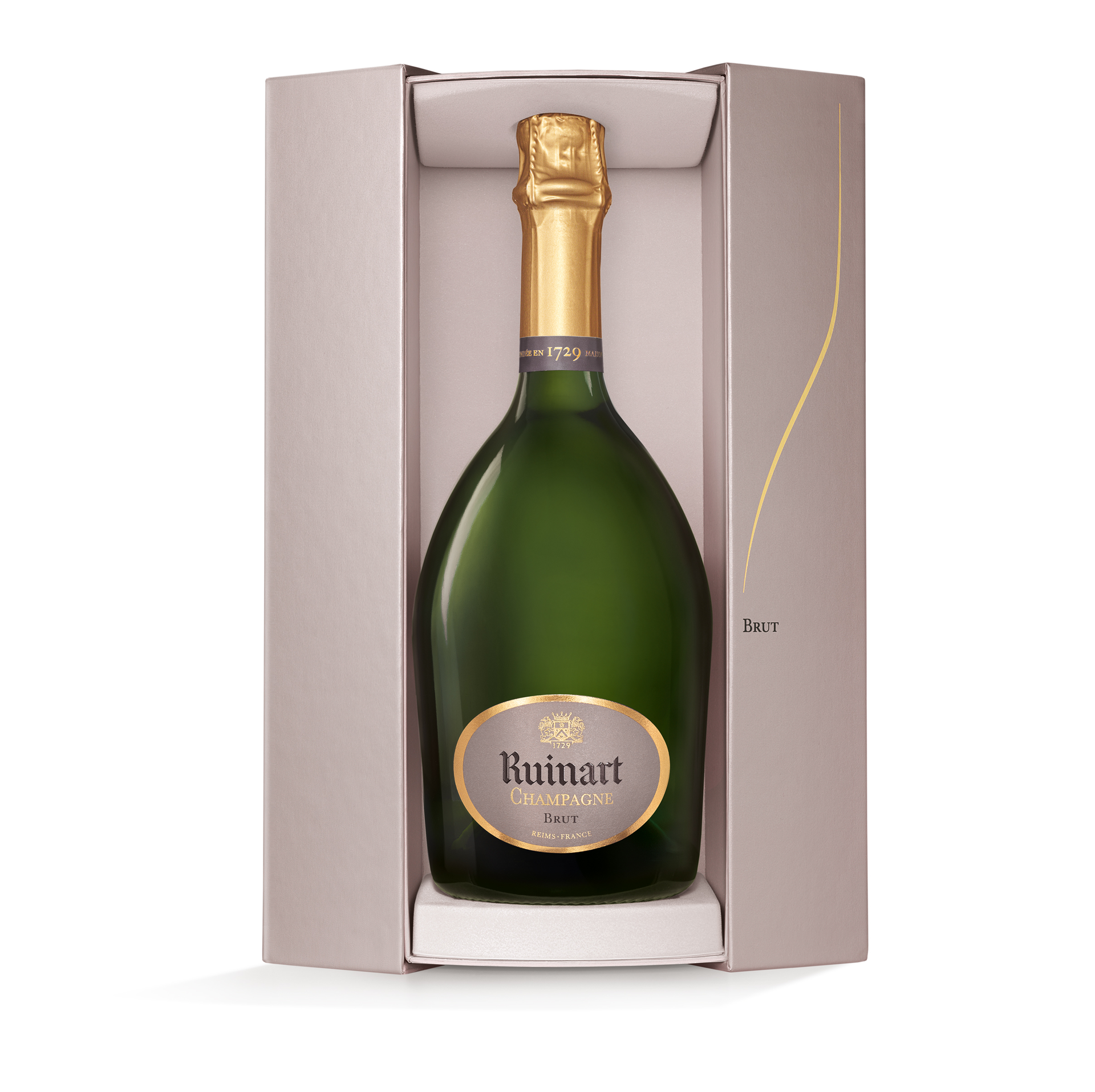 Champagne R. de Ruinart in luxe Coffret 75CL tijdelijk zonder coffret