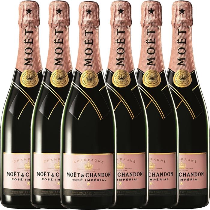 Pakket met 6 flessen à 75CL Moët & Chandon Brut Rosé Impérial