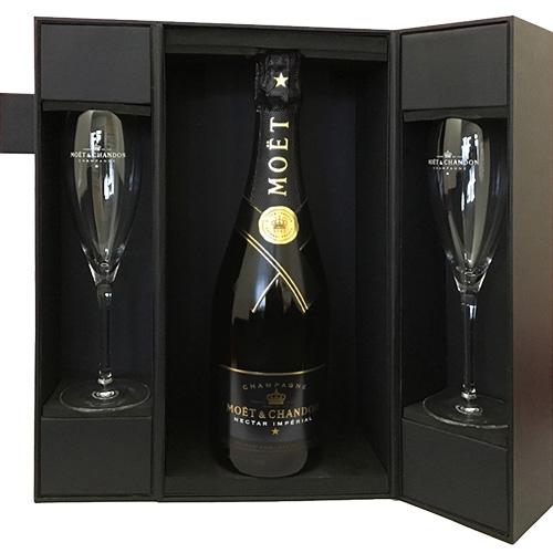 Moët & Chandon Nectar Impérial 75CL in luxe geschenkdoos met glazen