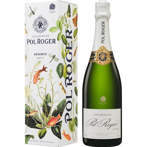 Pol Roger Brut Réserve 75CL in geschenkverpakking