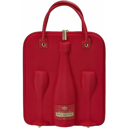 Piper-Heidsieck Cuvée Brut 75CL in Travelbag cooler met 2 flûtes