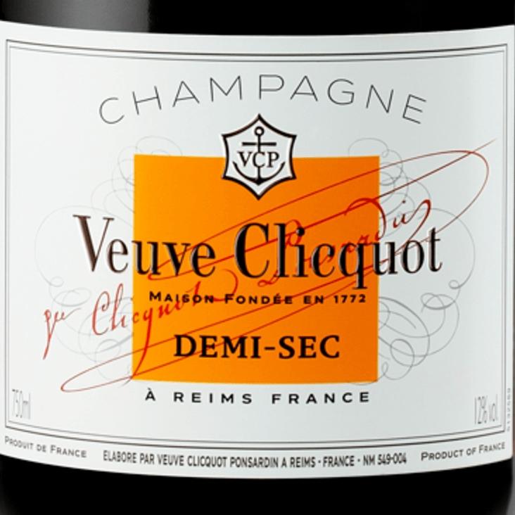 Veuve Clicquot Demi-Sec 75 CL Luxe geschenkbox met glazen