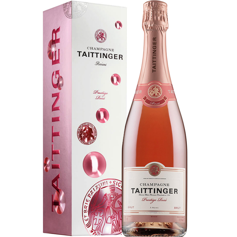 Taittinger Prestige Rosé in giftpack Bubbly 75CL